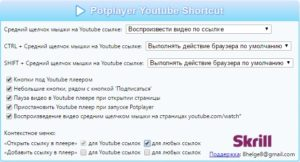 Options Potplayer Youtube Shortcut
