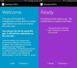 Running SDFix on Android