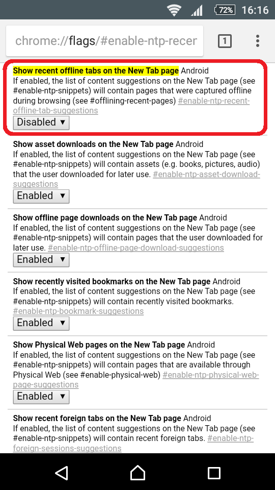 "Remove ""Articles for you"" in Google Chrome on Android – notAdmin"